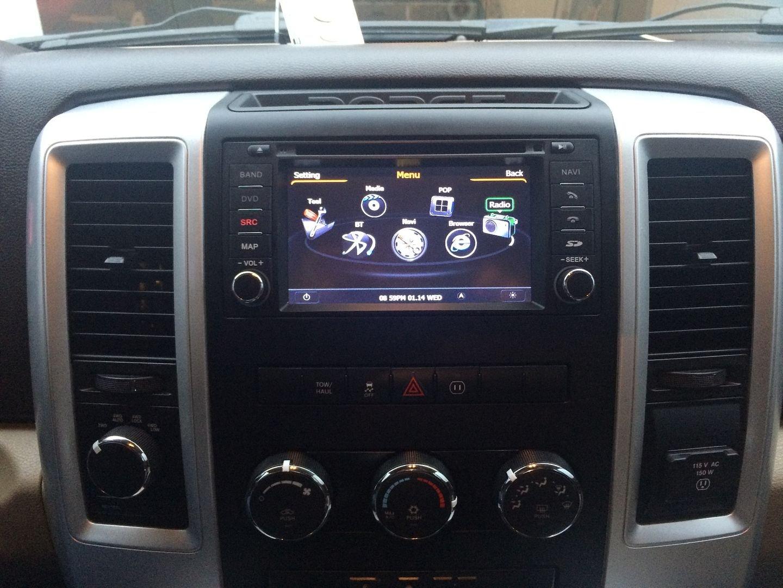 Installed S100 Nav Radio and backup Camera 09-2012 Ram