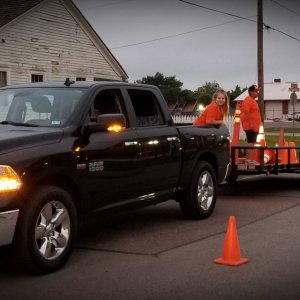 16 Ram 1500 at work; Road Crew at charity 10k
