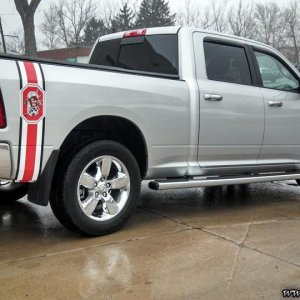 Buckeye custom Truck Bed stripe