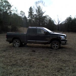 Black 2008 Dodge Ram SLT Big Horn - Mud