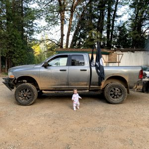 Daughter and my truck